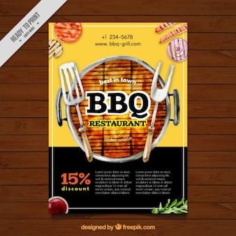 Barbecue aquarel brochure