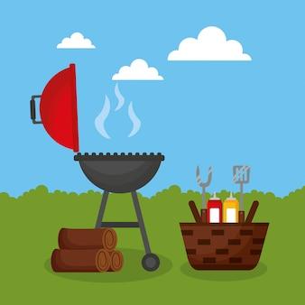 Barbecue buiten