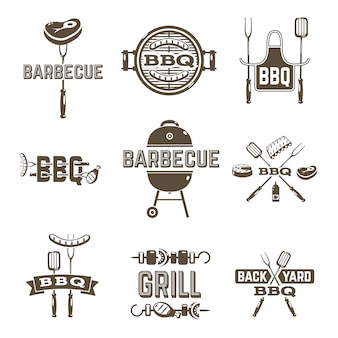 Barbecue en grill etiketten