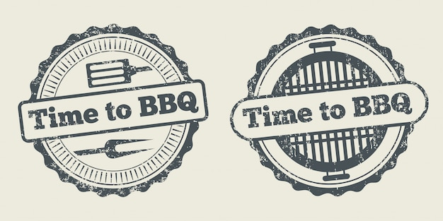 Barbecue en grill label steak house restaurant menu-element