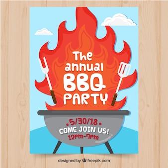 Barbecue feest uitnodiging