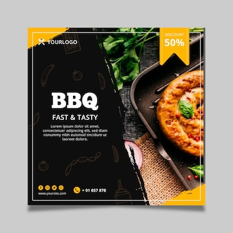 Barbecue folder sjabloon