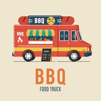 Barbecue food truck