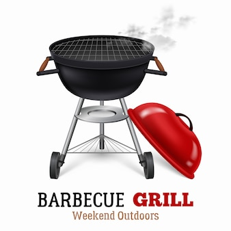 Barbecue grill illustratie