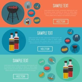 Barbecue horizontale websitesjablonen