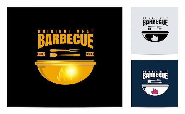 Barbecue logo met vintage concept