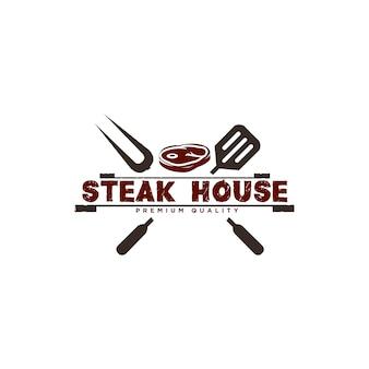 Barbecue logo ontwerp illustratie