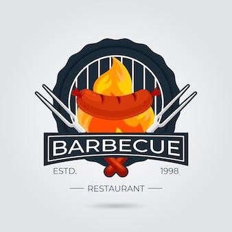 Barbecue-logosjabloon met details