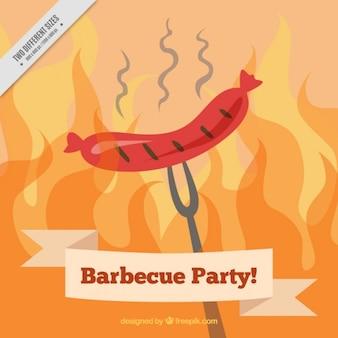 Barbecue partij achtergrond