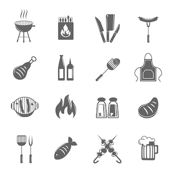 Barbecue pictogrammen