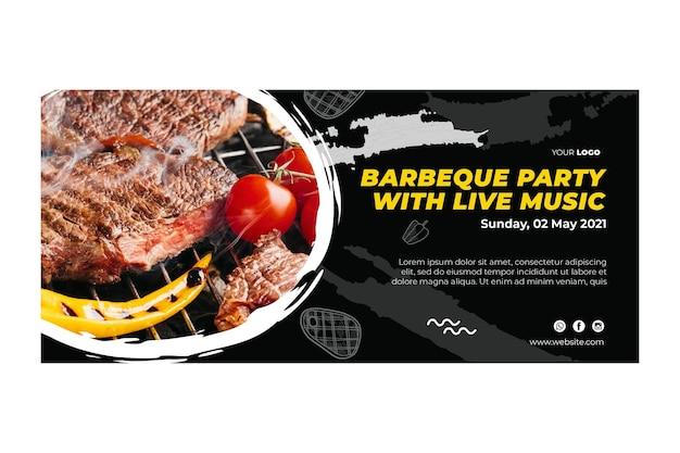 Barbecue sjabloon voor spandoek