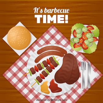 Barbecue time achtergrond