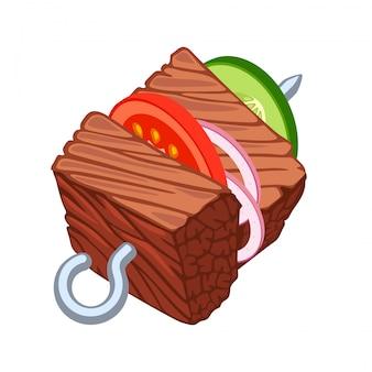Barbecue vectorillustratie op een witte achtergrond.