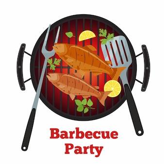 Barbecuepartij - zalmvis bij de grill
