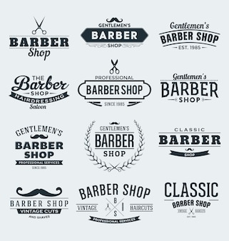 Barber etiketten collectie