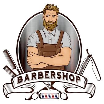 Barber shop mascotte
