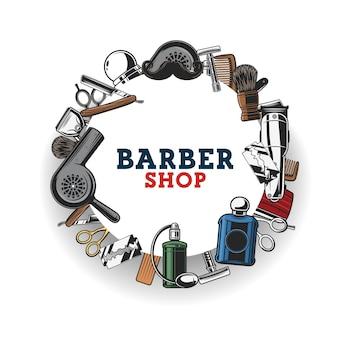 Barbershop, haircat tools en snor scheren
