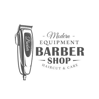 Barbershop label geïsoleerd op een witte achtergrond