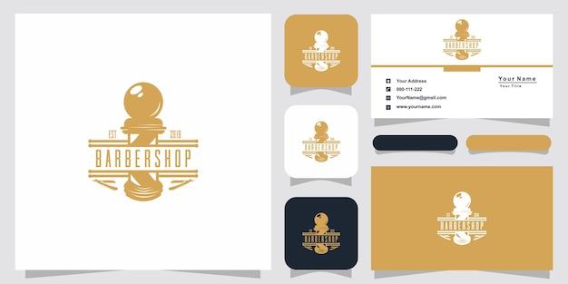 Barbershop logo-ontwerp en visitekaartje