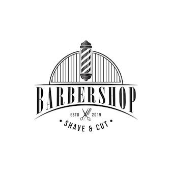 Barbershop logo sjabloon