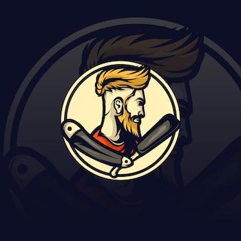 Barbershop mascotte illustratie