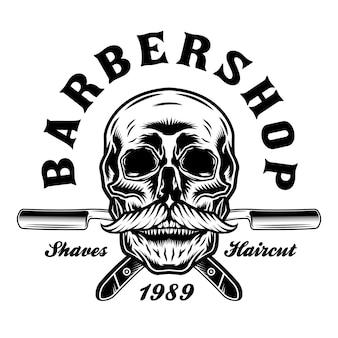 Barbershop scheermesjes en snorschedel