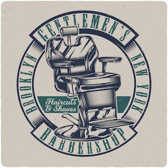 Barbershop stoel
