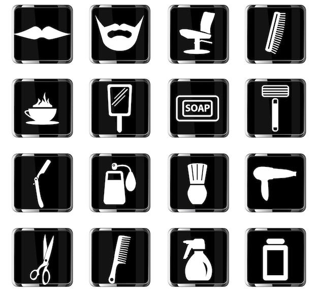 Barbershop vector iconen voor gebruikersinterface ontwerp