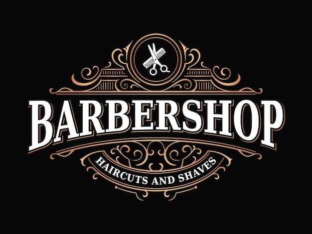 Barbershop vintage koninklijk luxe victoriaans sierlogo