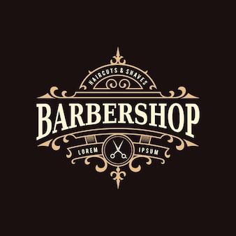 Barbershop vintage sierlogo