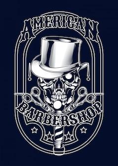 Barberskull illustratie voor t-shirt