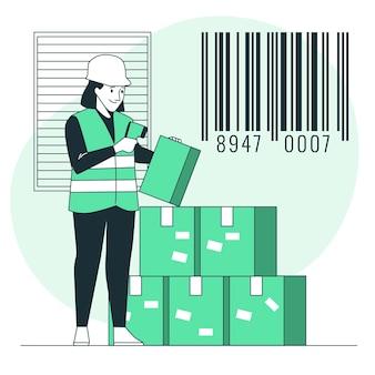 Barcode concept illustratie