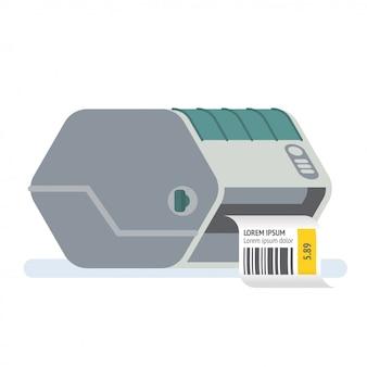 Barcode printer labelprinter