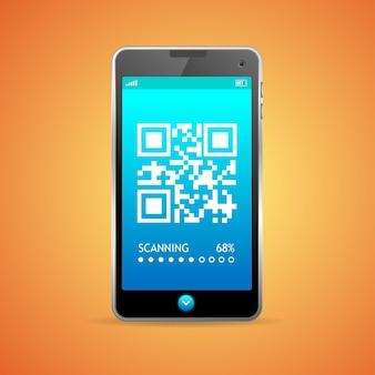 Barcode scanner telefoon geïsoleerd.