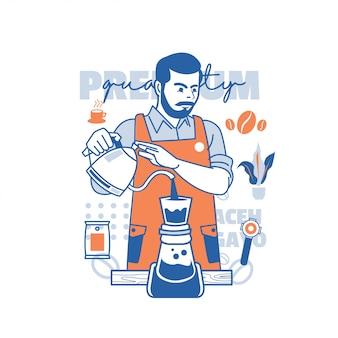 Barista koffiezetapparaat