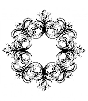 Barok vector uitstekend ornament