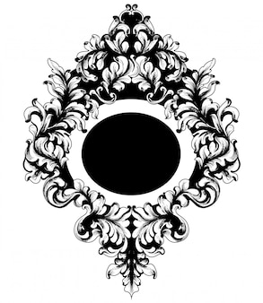 Barok versierd spiegellijst