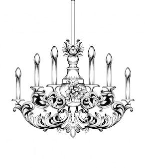 Barokke klassieke kroonluchter
