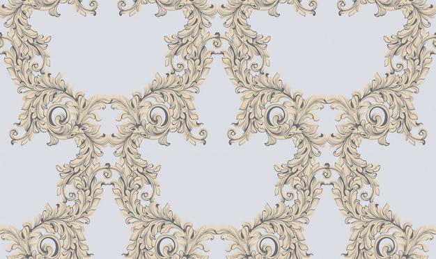 Barokke patroonachtergrond. ornament decor voor uitnodiging, bruiloft, wenskaarten. vector illustraties
