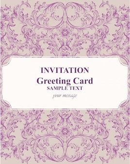 Barokke uitnodigingskaart rijk