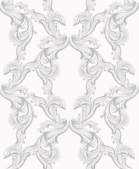 Barokpatroon voor uitnodiging, bruiloft, wenskaarten. illustratie handgemaakte ornament decors