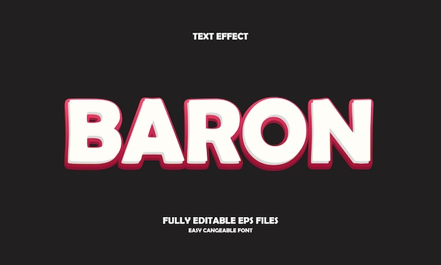 Baron teksteffect