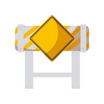 Barricade met signalering geïsoleerd pictogram