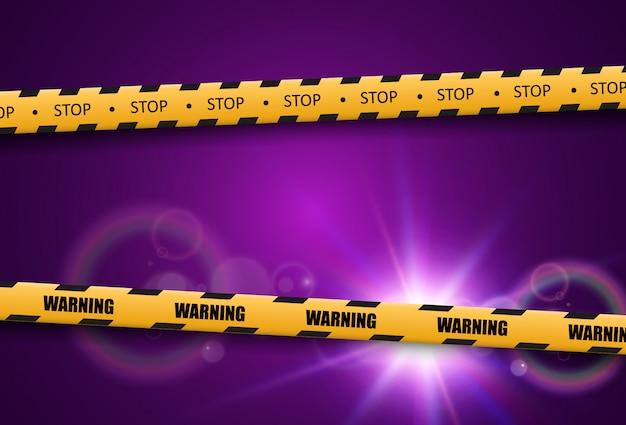 Barrière waarschuwingstape op transparante achtergrond. vector illustratie.