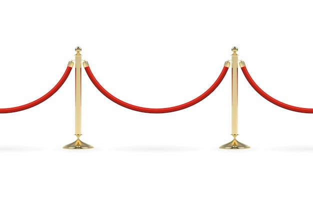 Barrières met rood touw