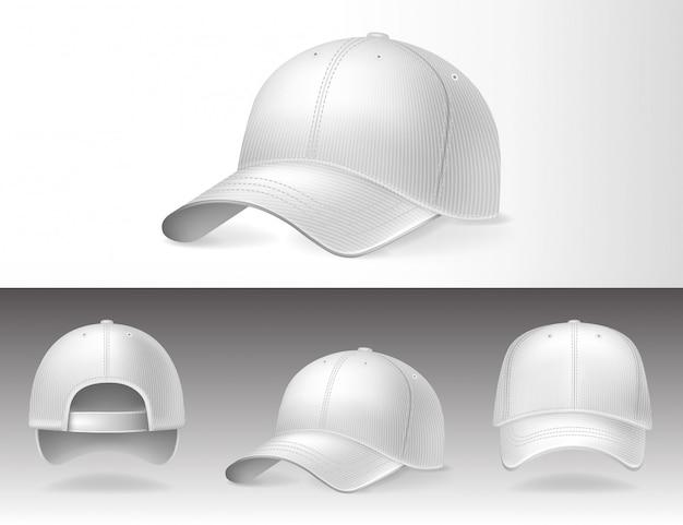 Baseball caps van verschillende kanten
