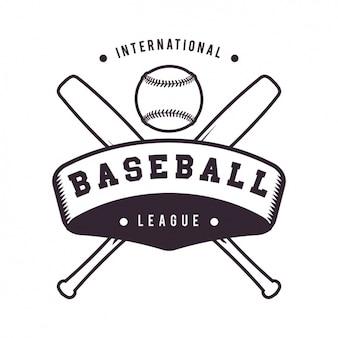 Baseball logo template ontwerp