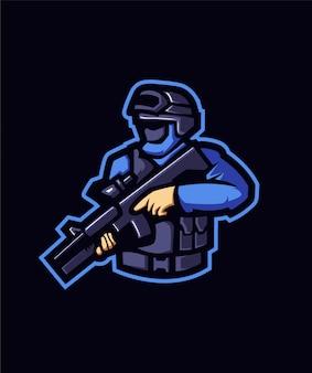 Basis blauwe politie