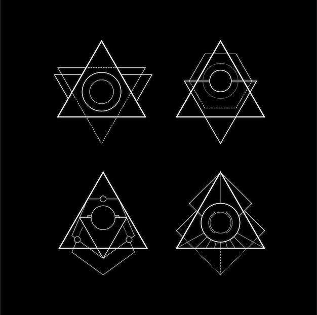Basis heilige geometrie driehoek.