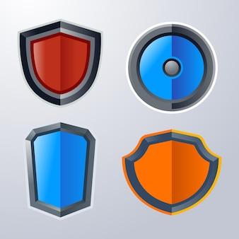 Basis schild icon pack